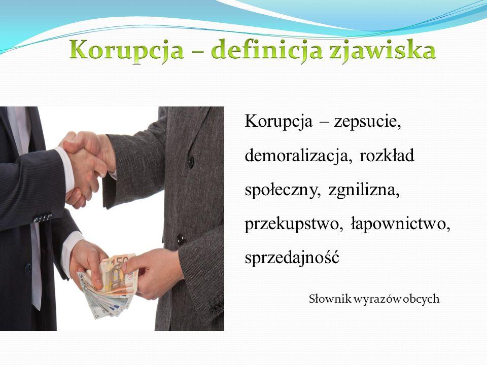 Korupcja – definicja zjawiska
