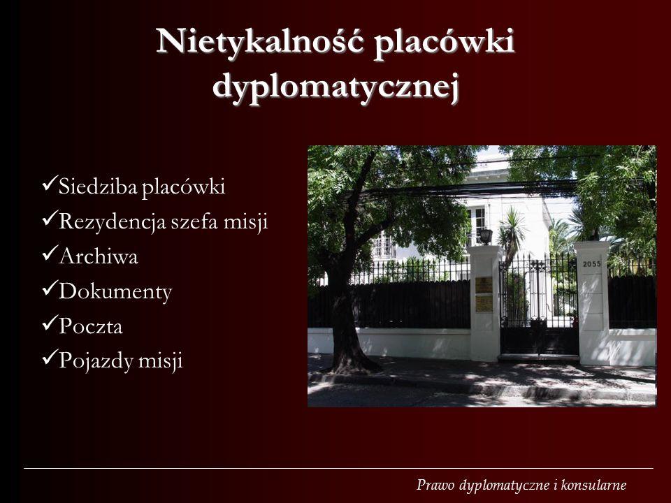 Nietykalność placówki dyplomatycznej