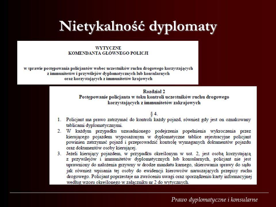Nietykalność dyplomaty