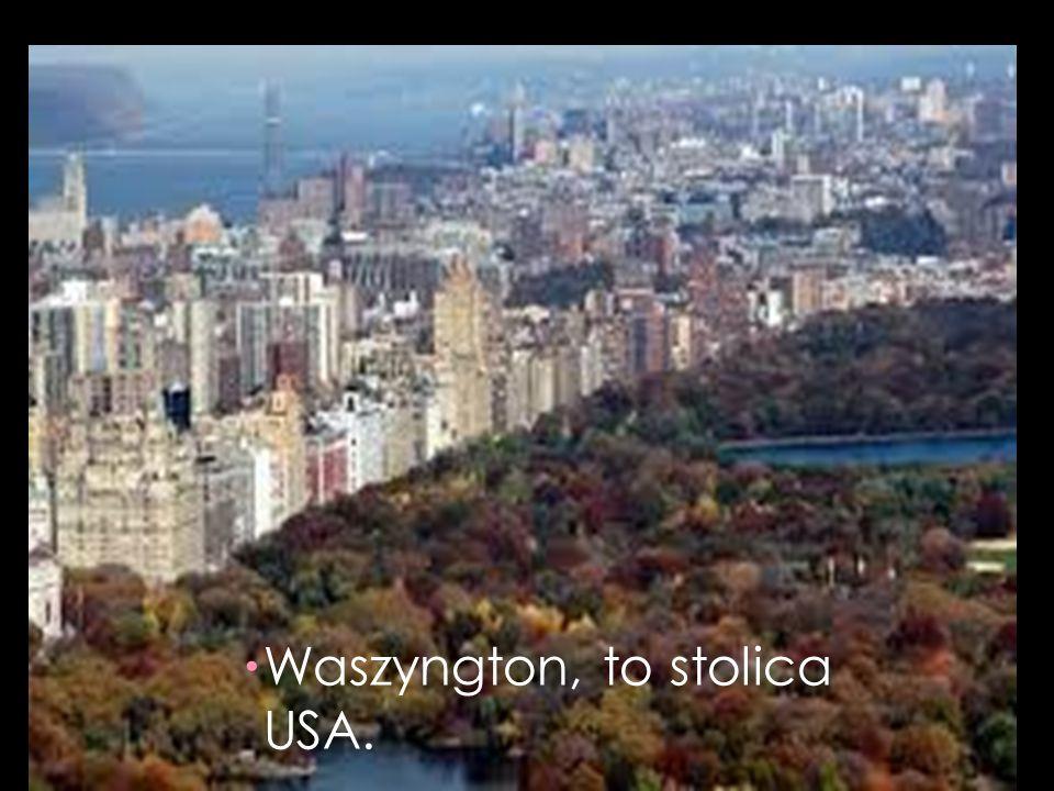 Waszyngton, to stolica USA.