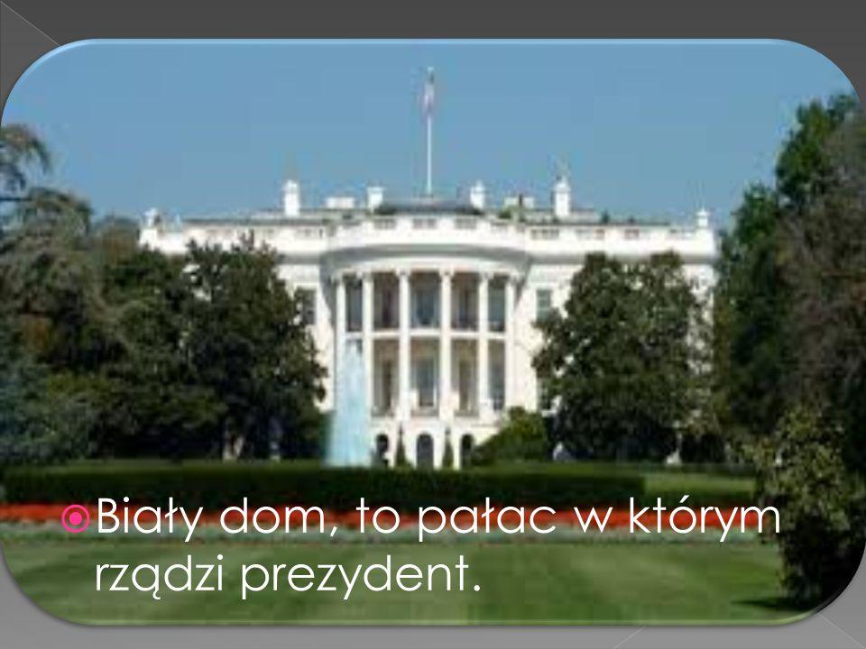 Biały dom, to pałac w którym rządzi prezydent.