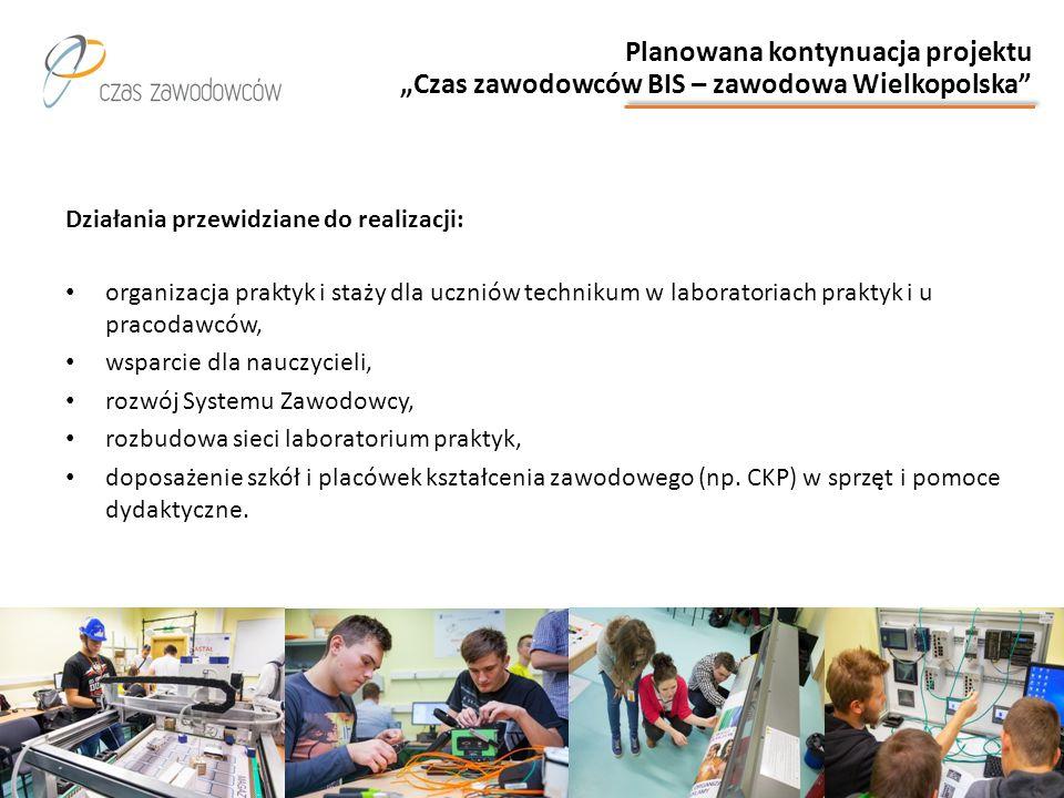 """Planowana kontynuacja projektu """"Czas zawodowców BIS – zawodowa Wielkopolska"""