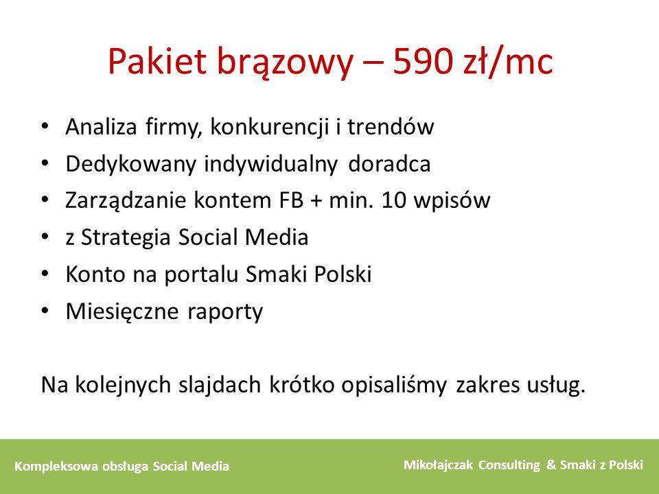 Pakiet brązowy – 590 zł/mc Analiza firmy, konkurencji i trendów