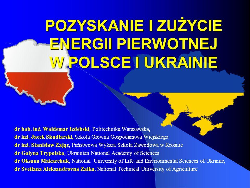 POZYSKANIE I ZUŻYCIE ENERGII PIERWOTNEJ W POLSCE I UKRAINIE