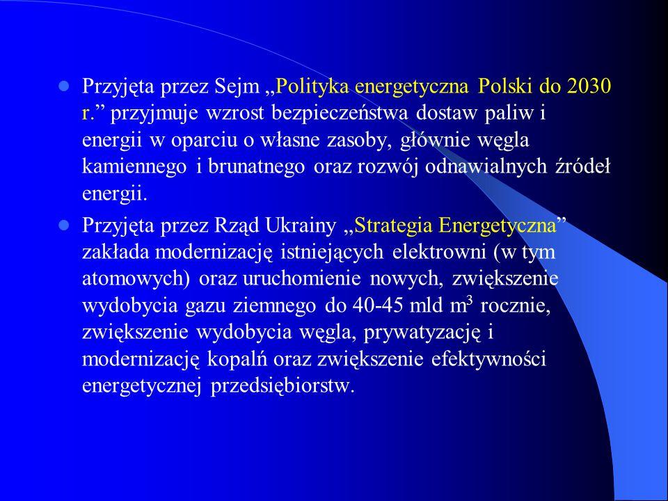 """Przyjęta przez Sejm """"Polityka energetyczna Polski do 2030 r"""