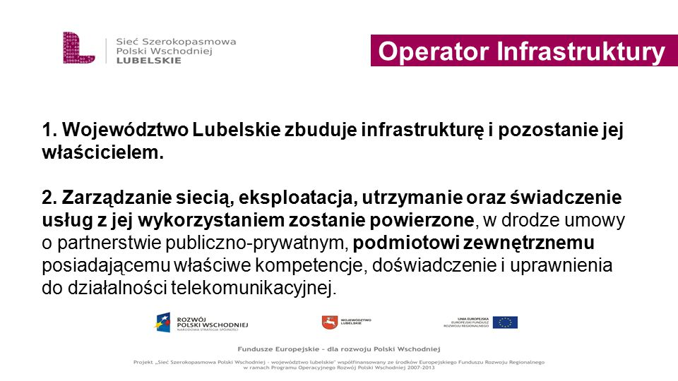 Operator Infrastruktury