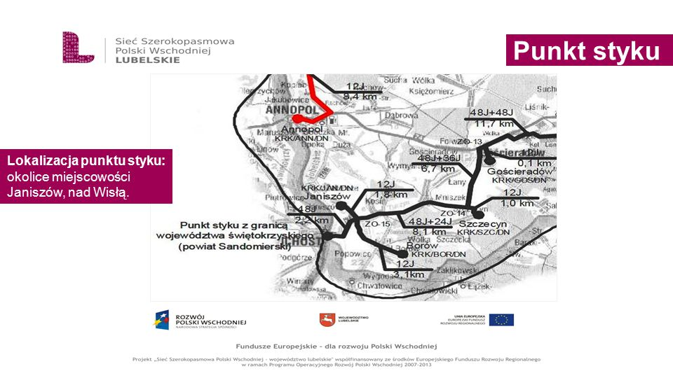 Punkt styku Lokalizacja punktu styku: okolice miejscowości Janiszów, nad Wisłą.