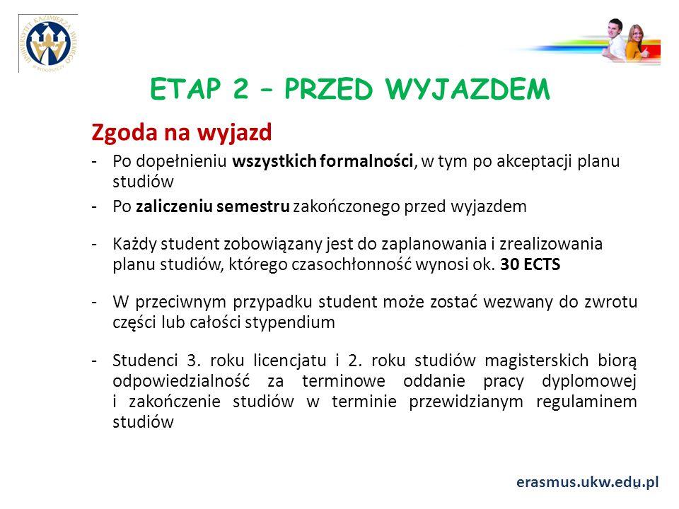 ETAP 2 – PRZED WYJAZDEM Zgoda na wyjazd