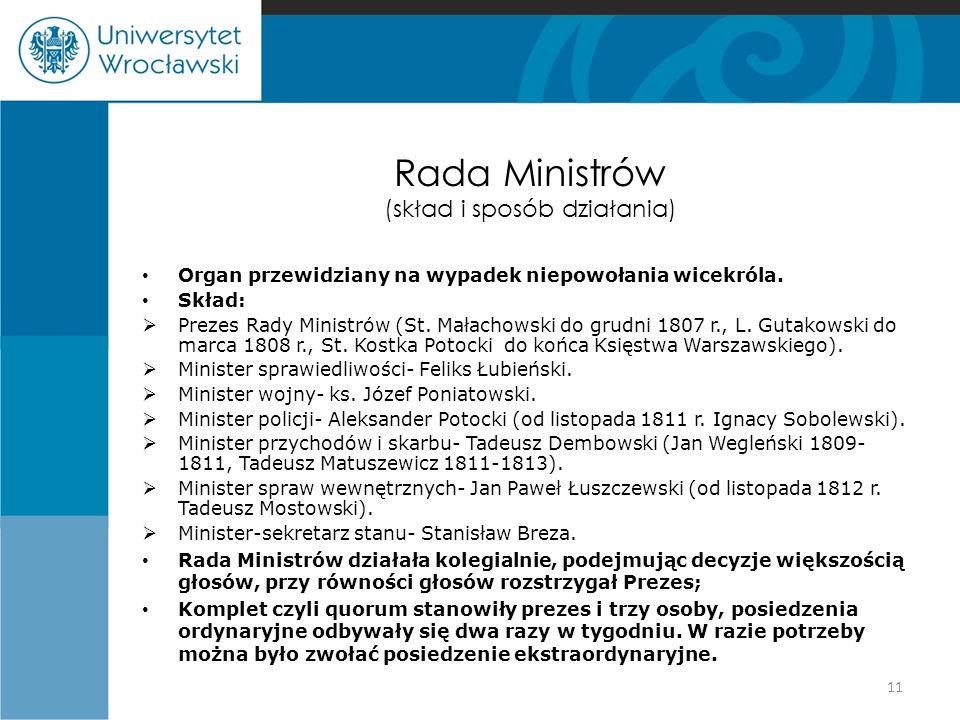 Rada Ministrów (skład i sposób działania)