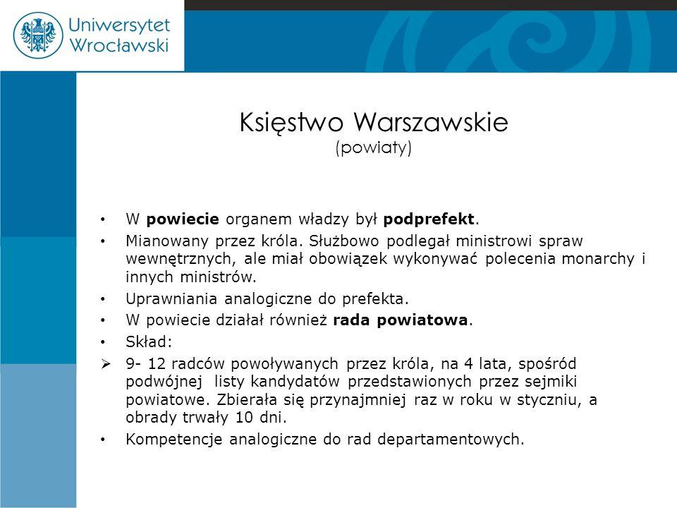 Księstwo Warszawskie (powiaty)