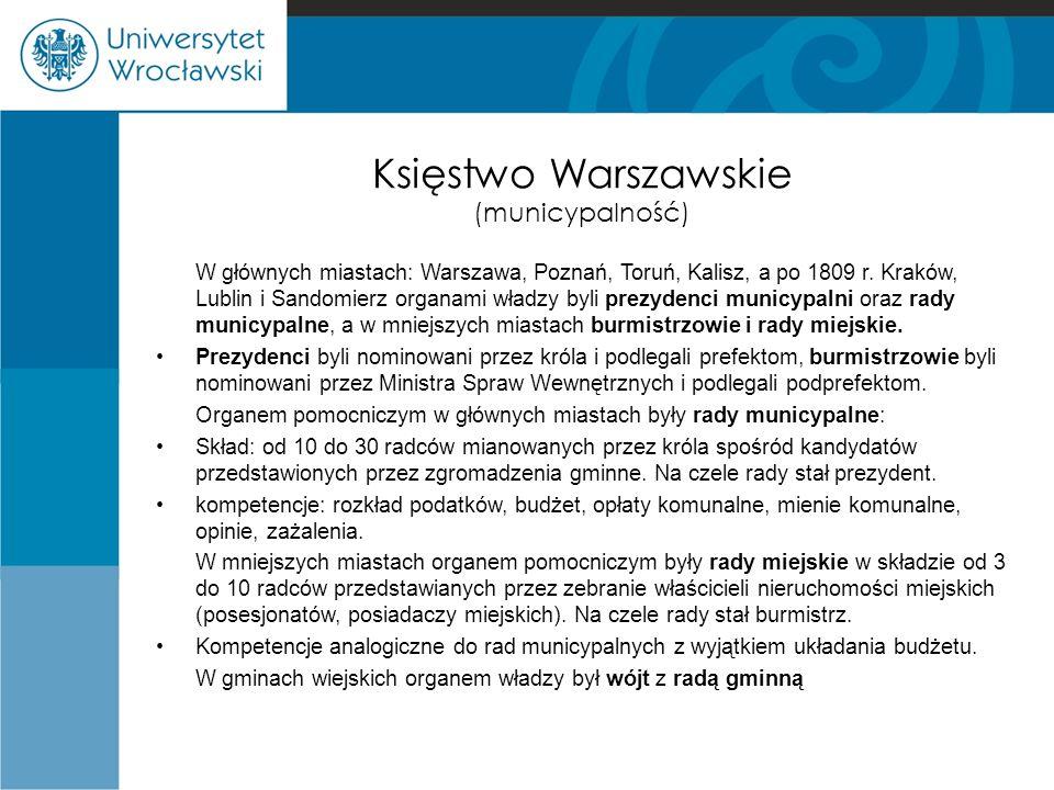 Księstwo Warszawskie (municypalność)