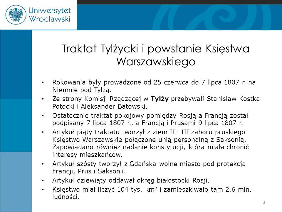 Traktat Tylżycki i powstanie Księstwa Warszawskiego
