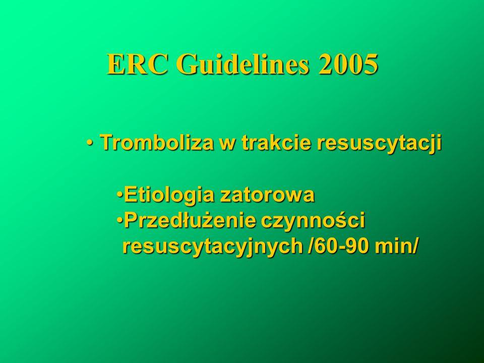 ERC Guidelines 2005 Tromboliza w trakcie resuscytacji