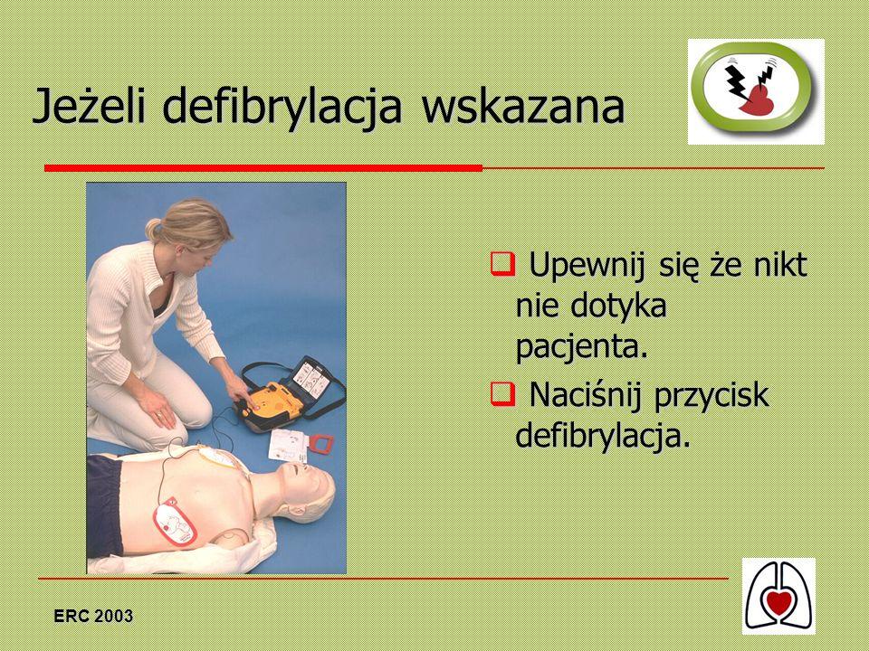 Jeżeli defibrylacja wskazana