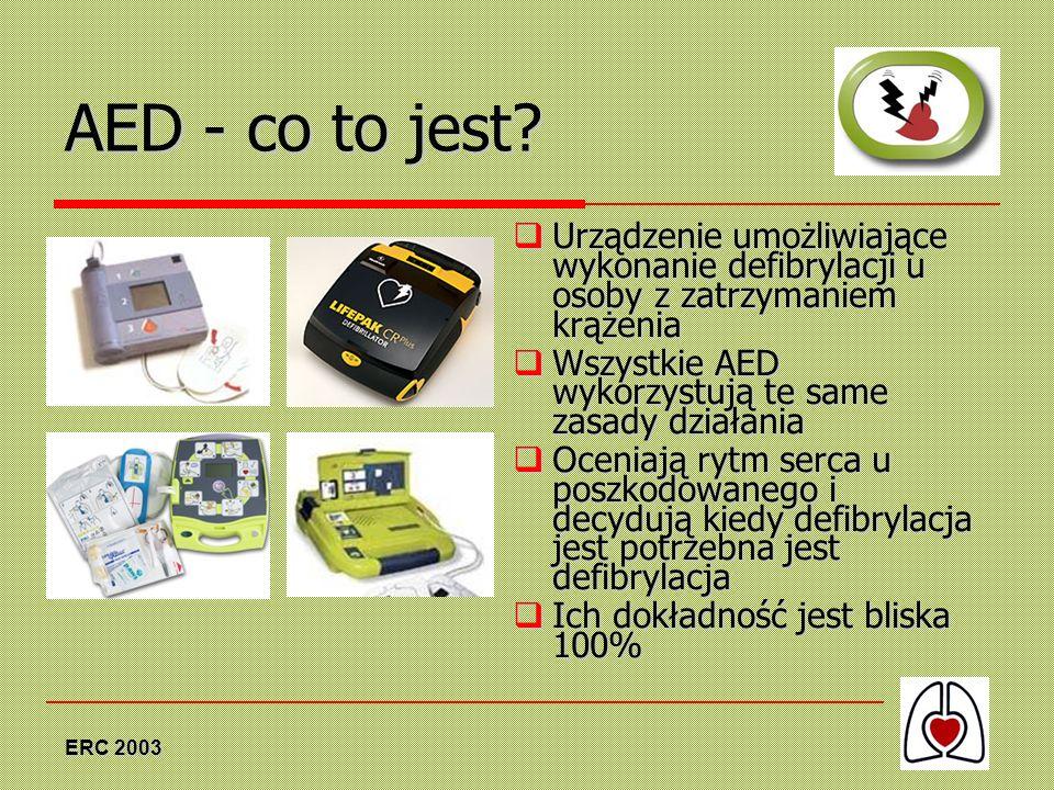 AED - co to jest Urządzenie umożliwiające wykonanie defibrylacji u osoby z zatrzymaniem krążenia.