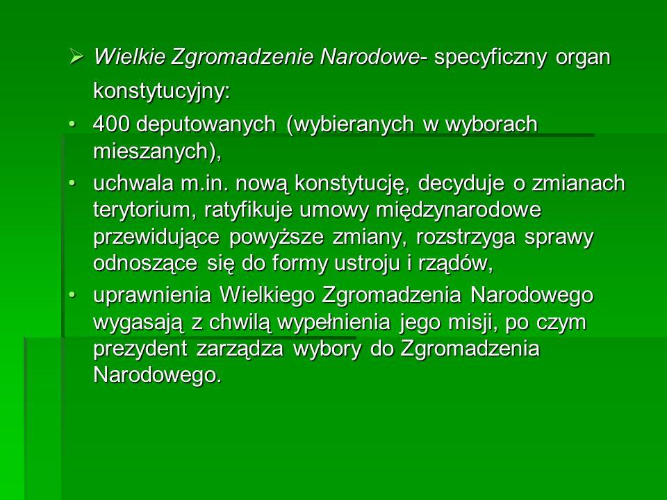 Wielkie Zgromadzenie Narodowe- specyficzny organ konstytucyjny: