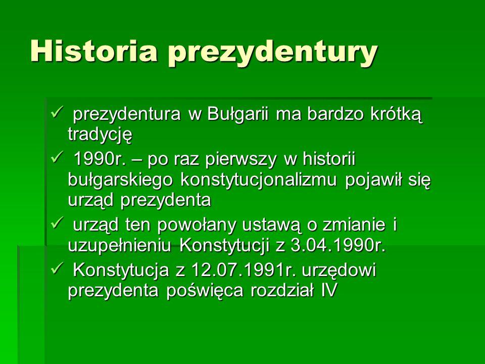 Historia prezydentury
