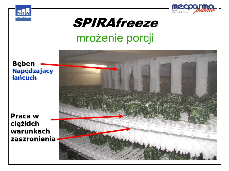 SPIRAfreeze mrożenie porcji
