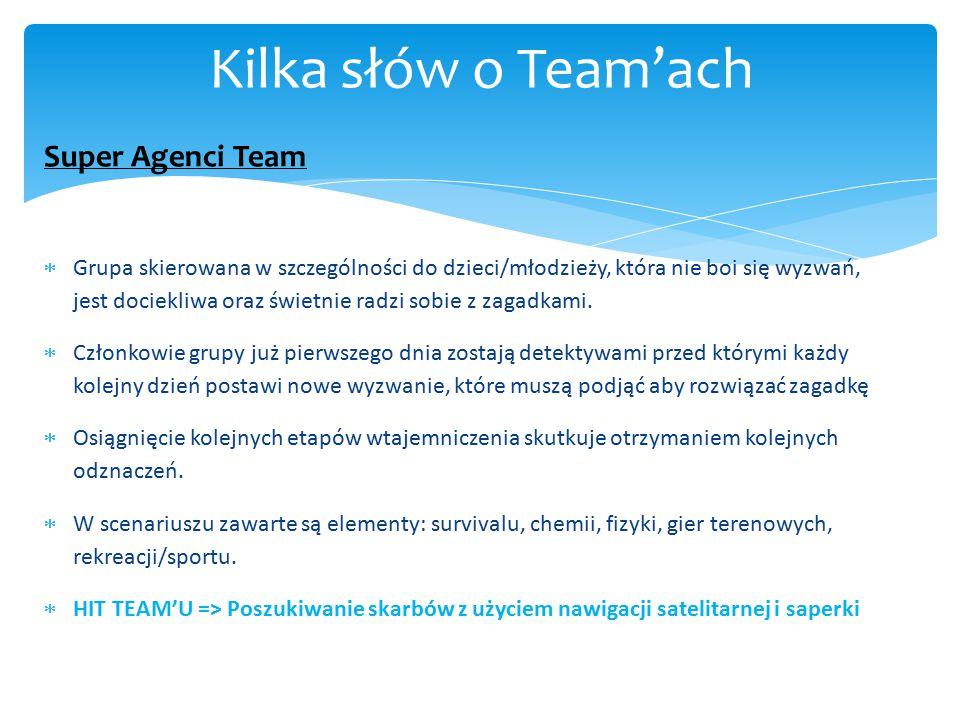 Kilka słów o Team'ach Super Agenci Team