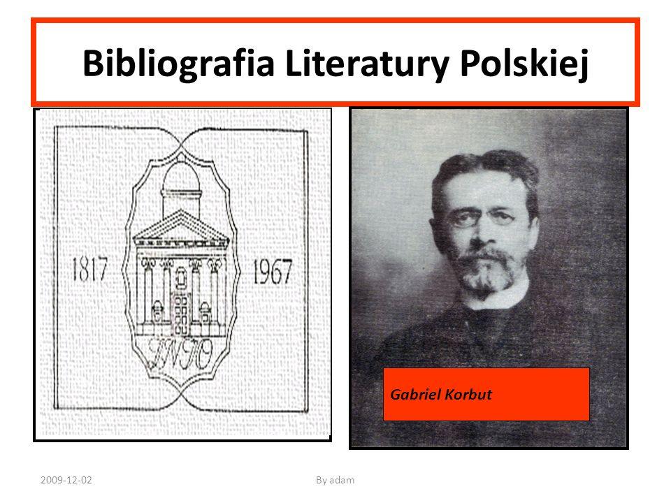 Bibliografia Literatury Polskiej