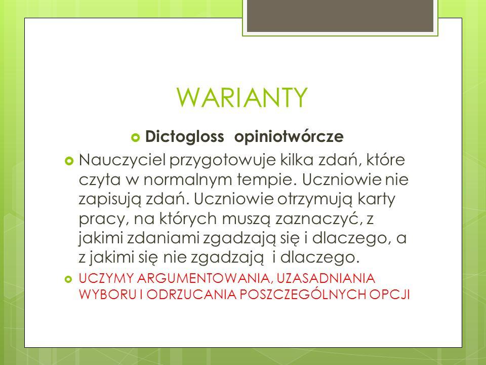 Dictogloss opiniotwórcze