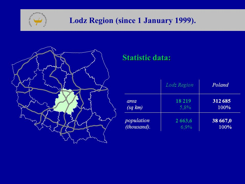 Lodz Region (since 1 January 1999).