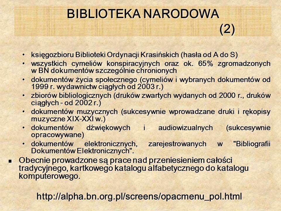 BIBLIOTEKA NARODOWA (2)