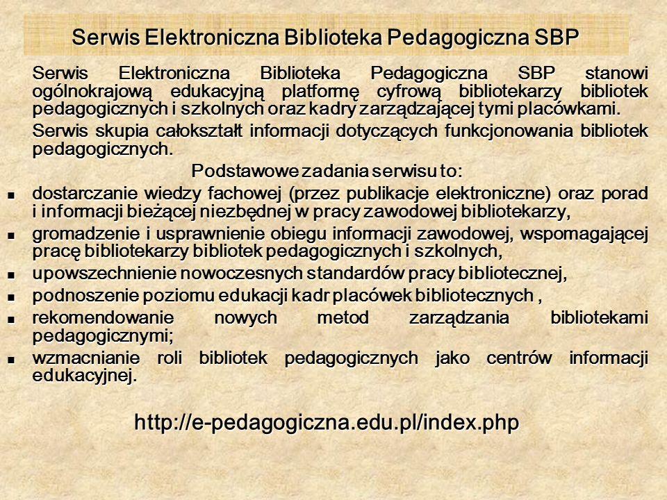 Serwis Elektroniczna Biblioteka Pedagogiczna SBP