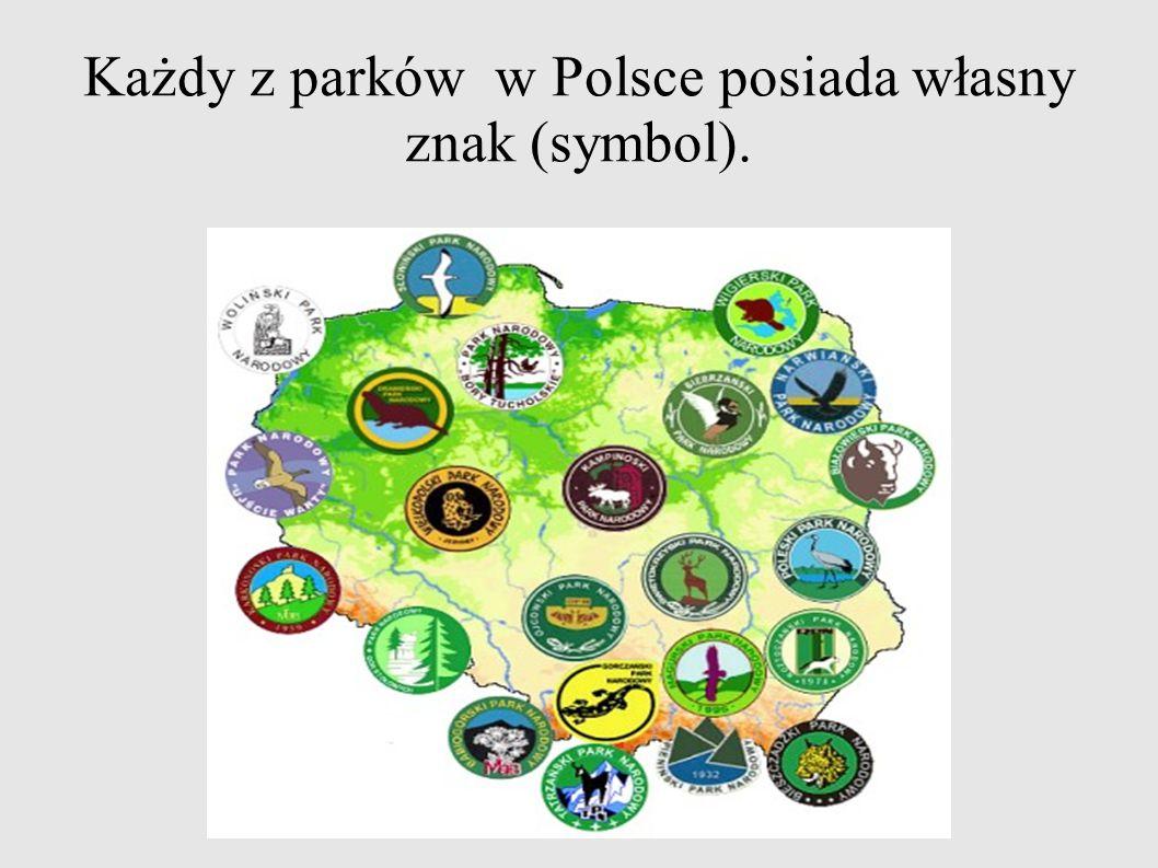 Każdy z parków w Polsce posiada własny znak (symbol).