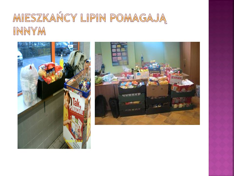 Mieszkańcy Lipin pomagają innym