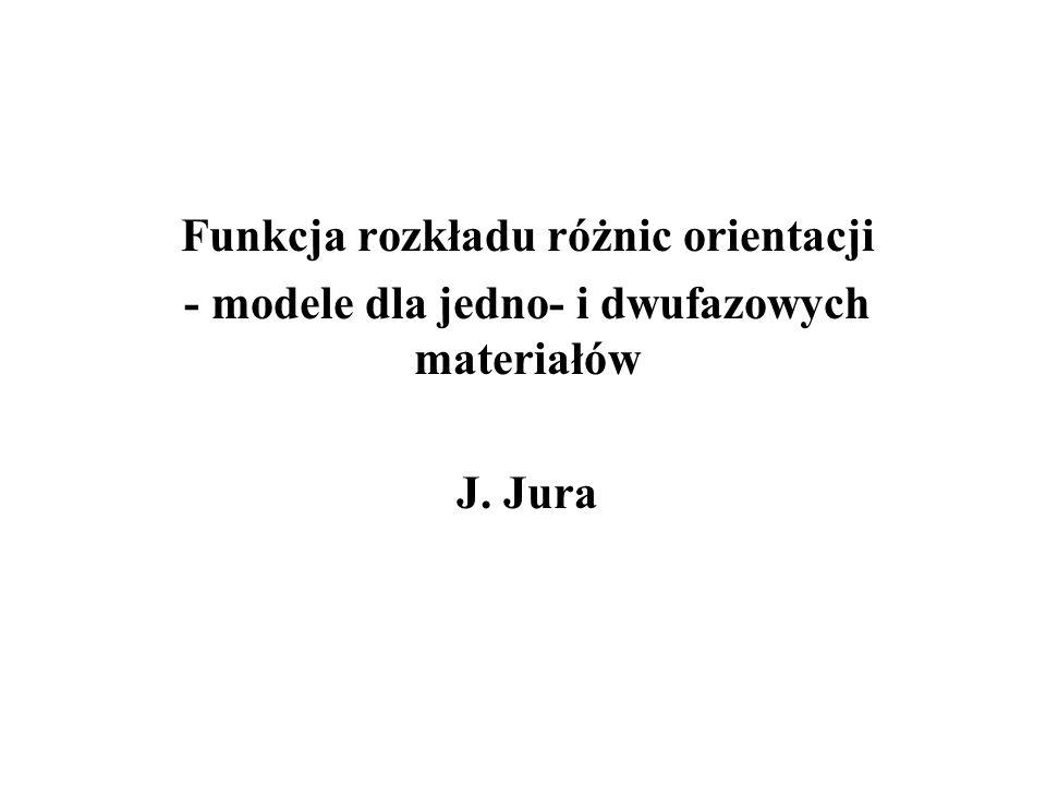 - modele dla jedno- i dwufazowych materiałów