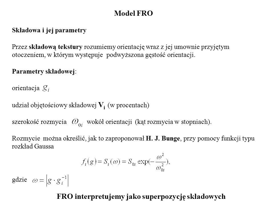 FRO interpretujemy jako superpozycję składowych