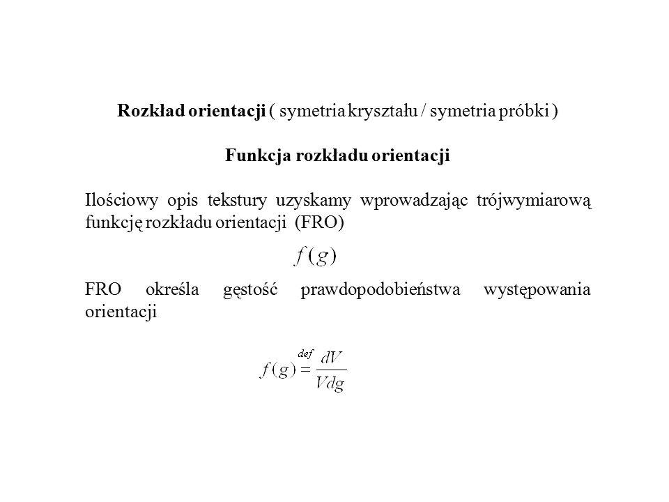 Rozkład orientacji ( symetria kryształu / symetria próbki )