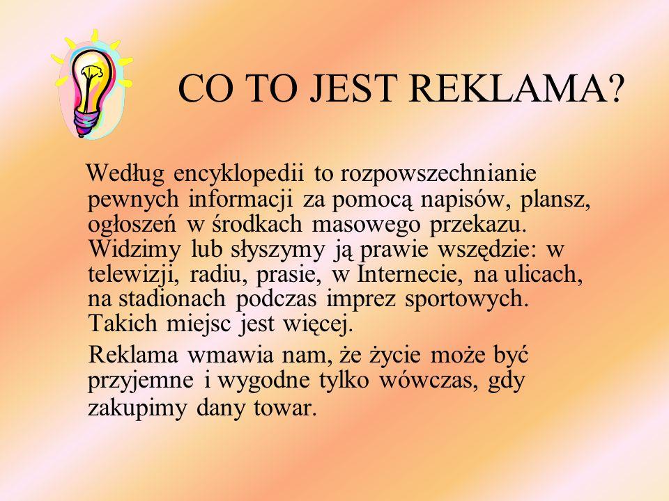 CO TO JEST REKLAMA