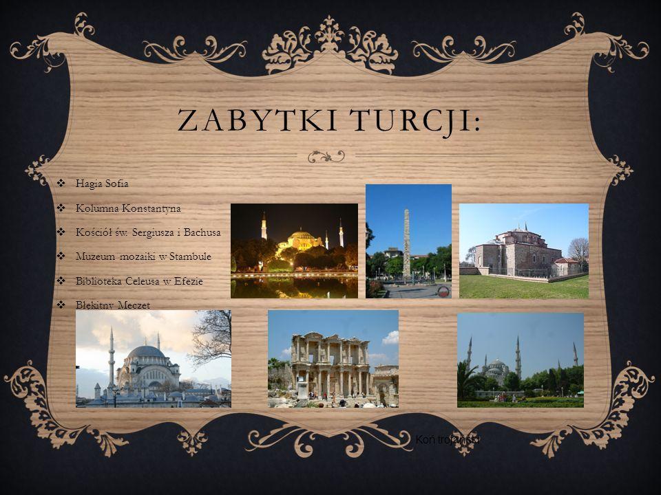 ZABYTKI TURCJI: Hagia Sofia Kolumna Konstantyna