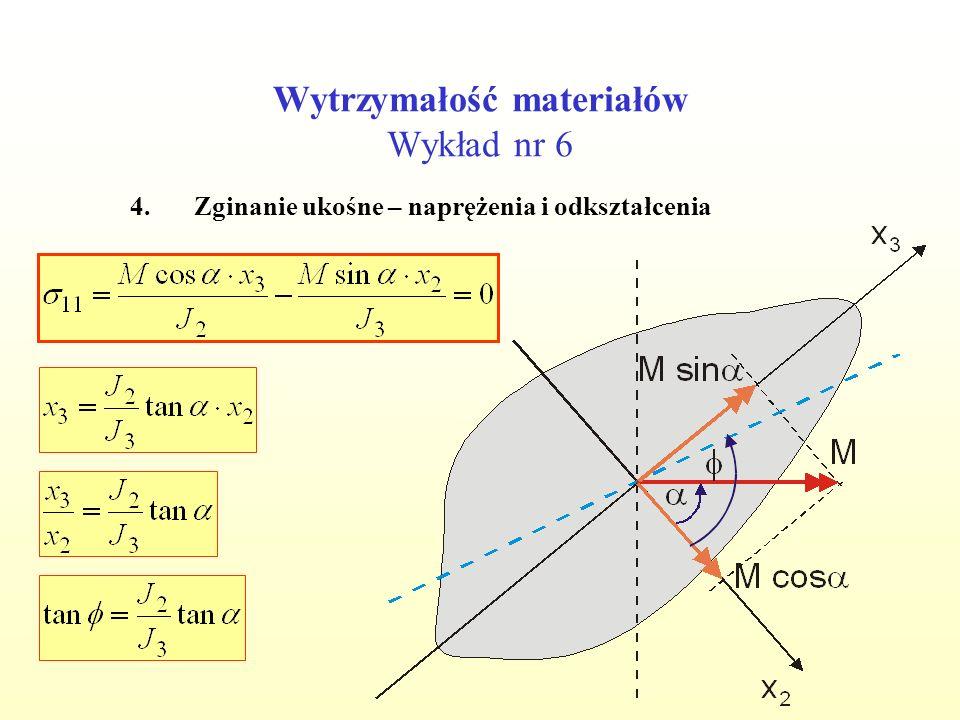 Wytrzymałość materiałów Wykład nr 6