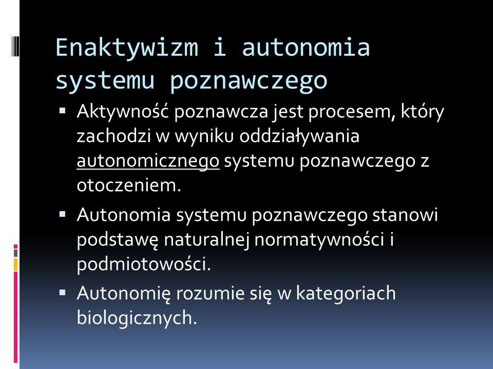 Enaktywizm i autonomia systemu poznawczego