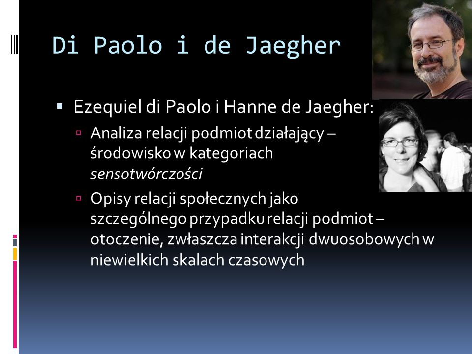 Di Paolo i de Jaegher Ezequiel di Paolo i Hanne de Jaegher: