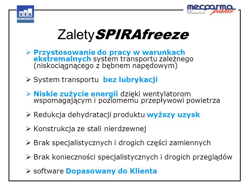 ZaletySPIRAfreeze Przystosowanie do pracy w warunkach ekstremalnych system transportu zależnego (niskociągnącego z bębnem napędowym)