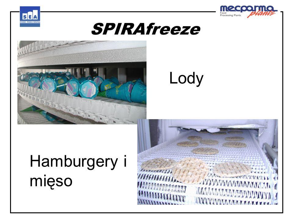 SPIRAfreeze Lody Hamburgery i mięso