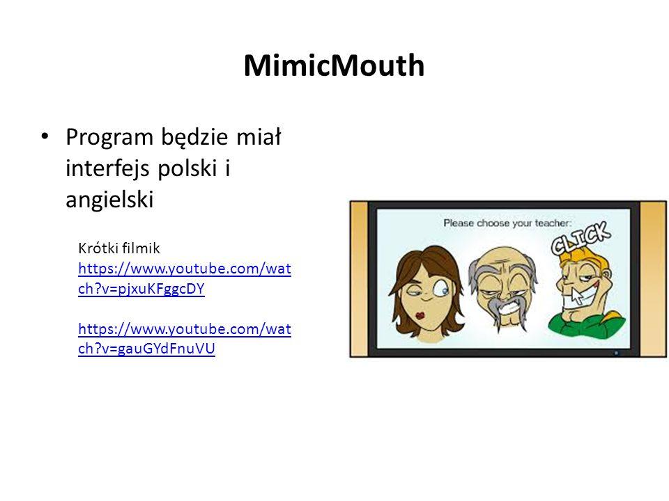 MimicMouth Program będzie miał interfejs polski i angielski