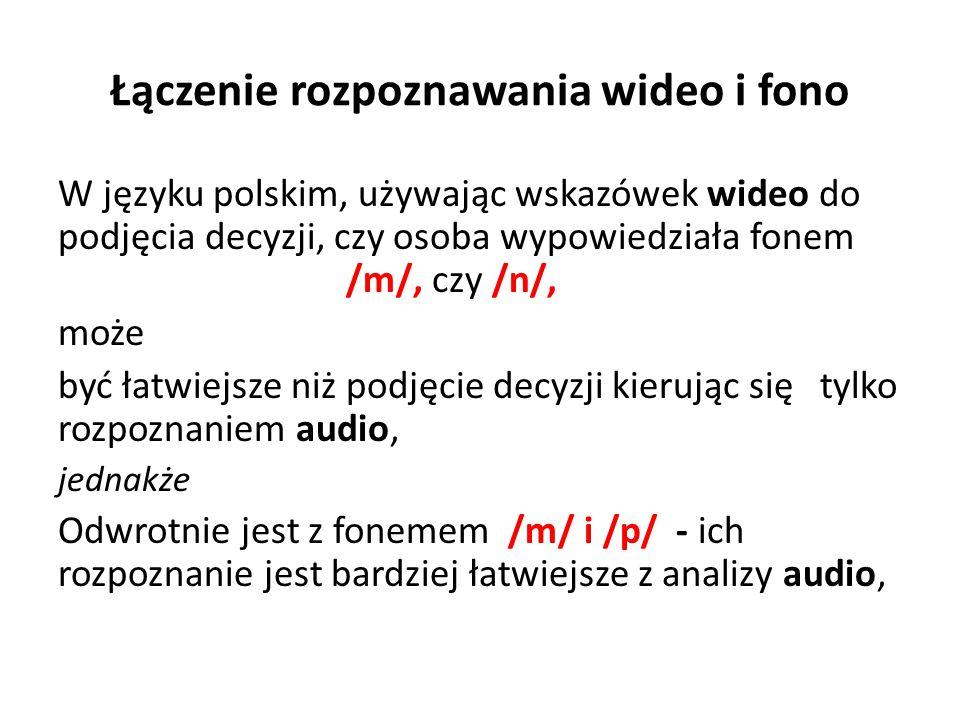 Łączenie rozpoznawania wideo i fono