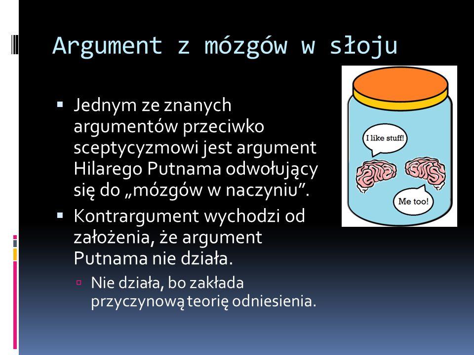 Argument z mózgów w słoju