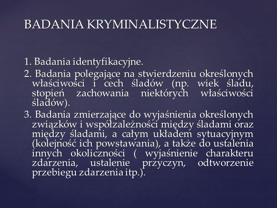 BADANIA KRYMINALISTYCZNE