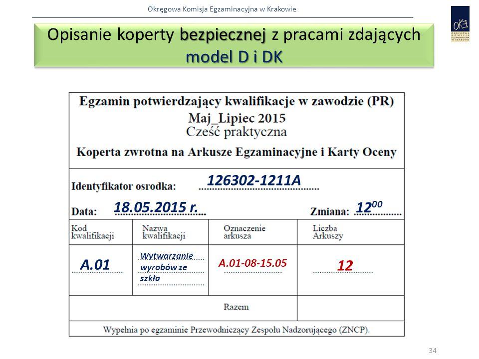 Opisanie koperty bezpiecznej z pracami zdających model D i DK