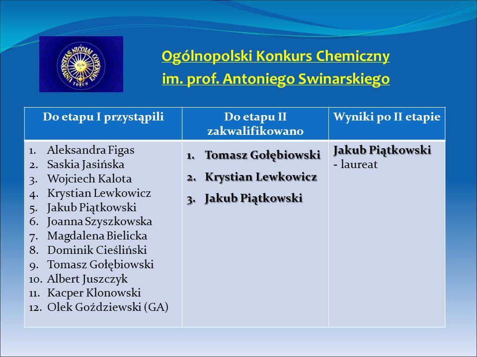 Ogólnopolski Konkurs Chemiczny im. prof. Antoniego Swinarskiego