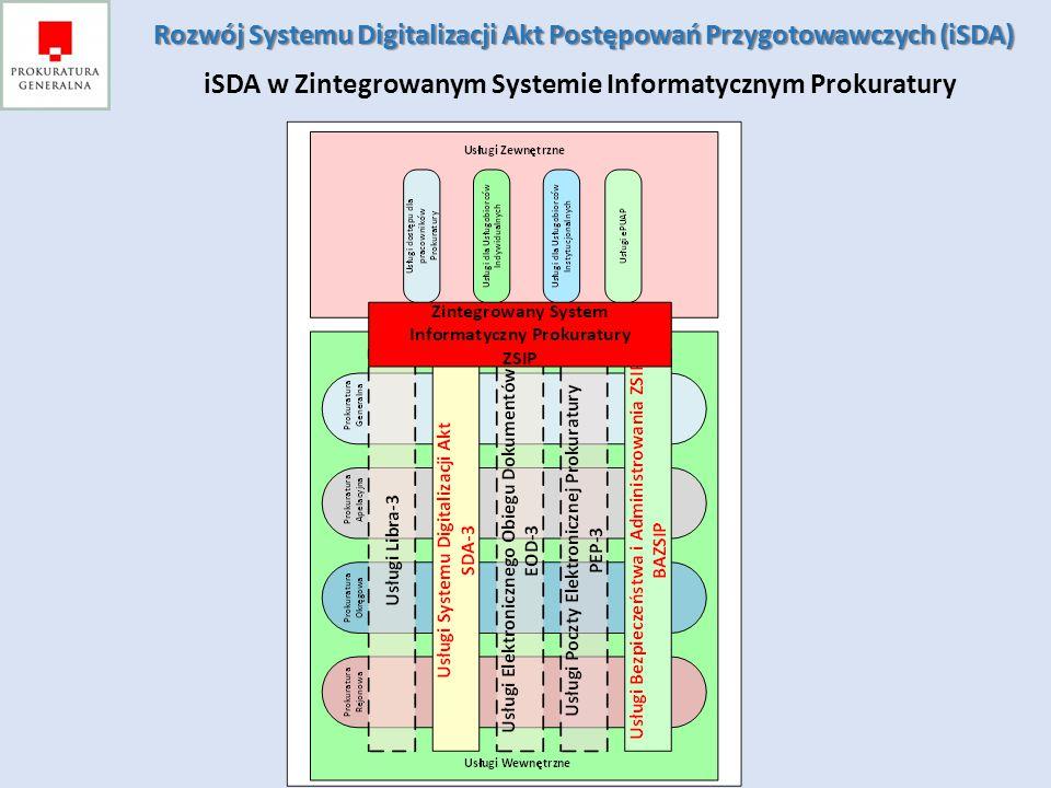 Rozwój Systemu Digitalizacji Akt Postępowań Przygotowawczych (iSDA)