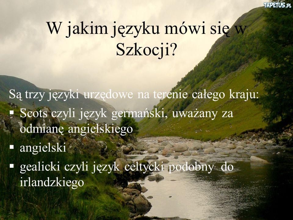 W jakim języku mówi się w Szkocji