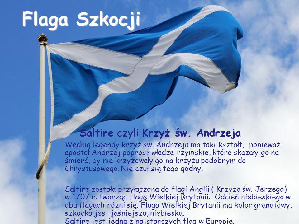 Flaga Szkocji Saltire czyli Krzyż św. Andrzeja