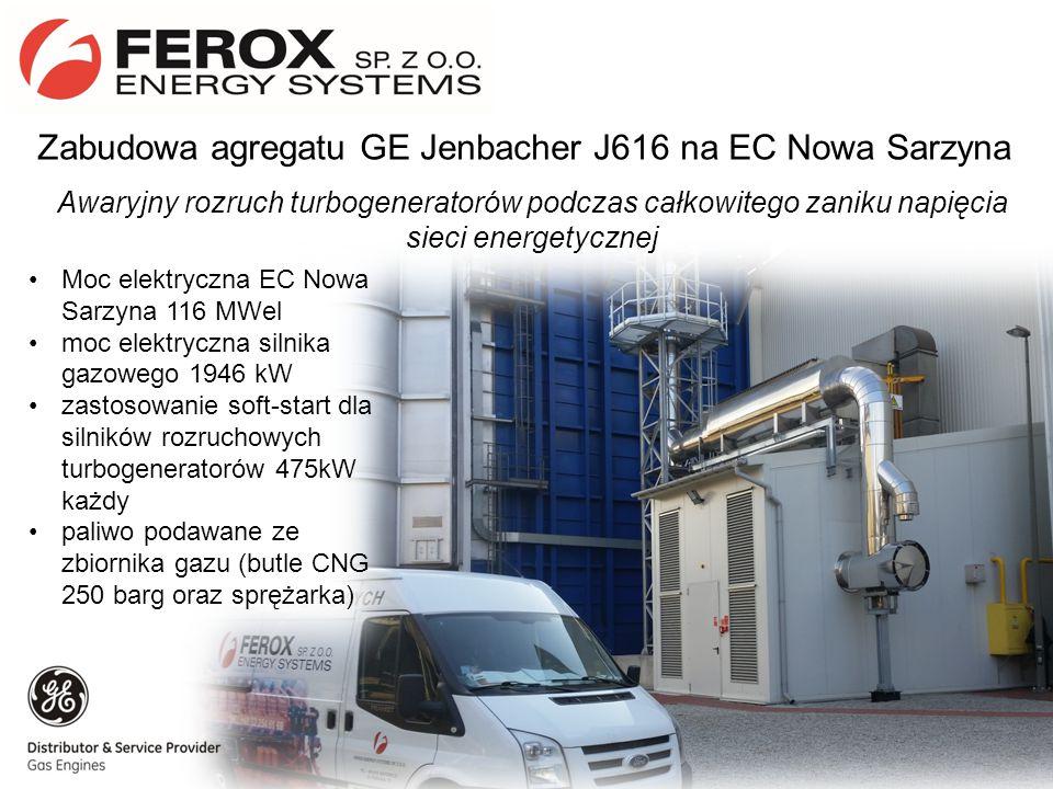 Zabudowa agregatu GE Jenbacher J616 na EC Nowa Sarzyna